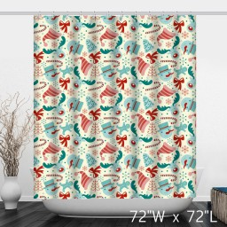 Merry Christmas Decoration Pattern Shower Curtain
