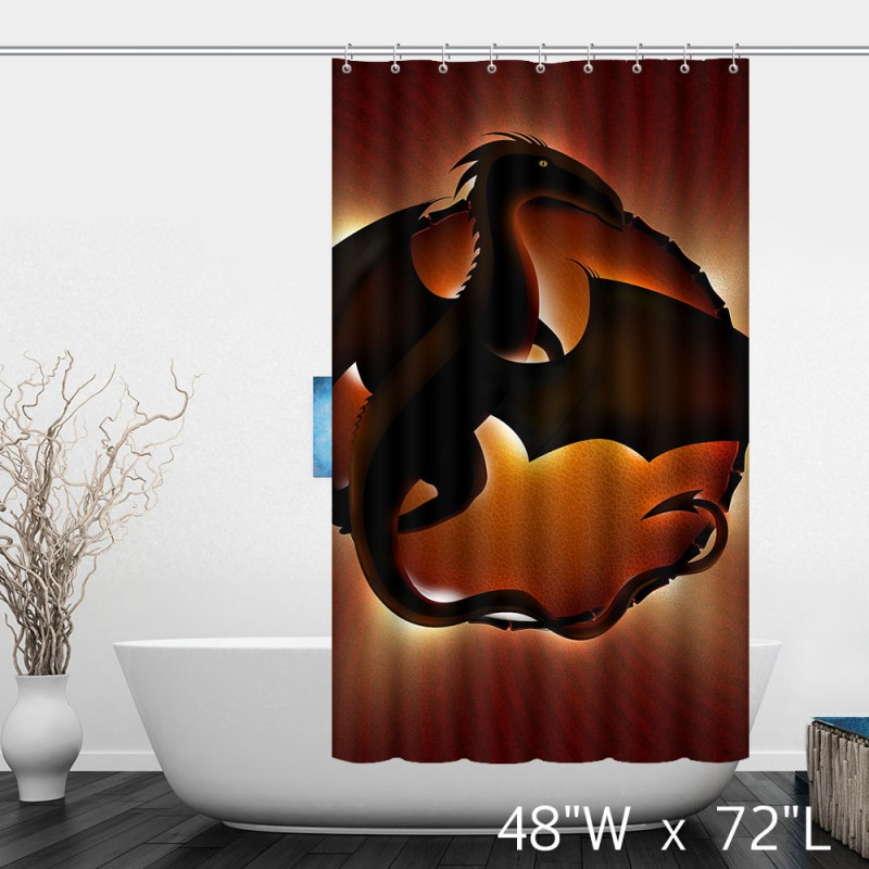 Chinese Year Flaming Dragon Shower Curtain