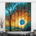 Colorful Watercolor Trees Print Artist Shower Curtain