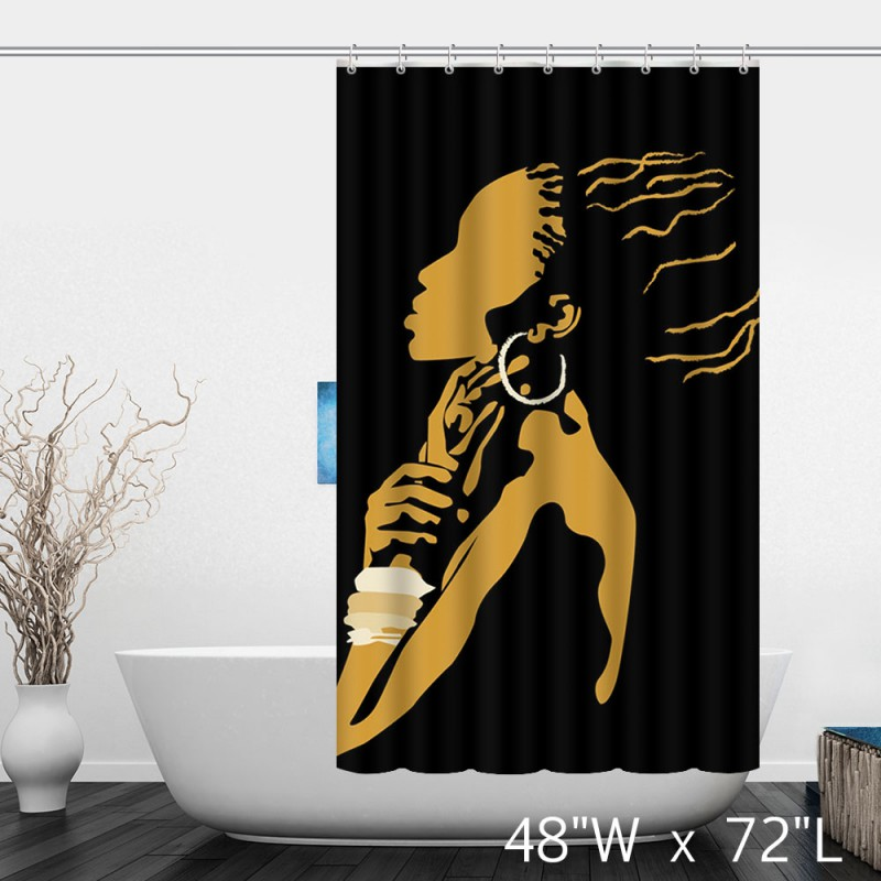 African Woman Painting Art Decor Shower Curtain