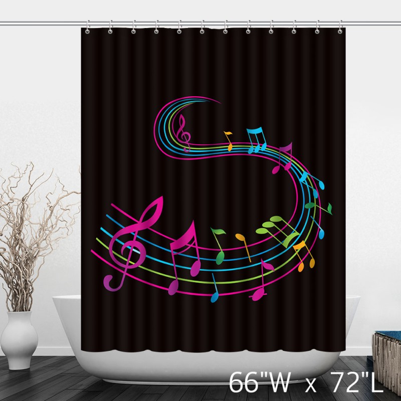 Music note curtains