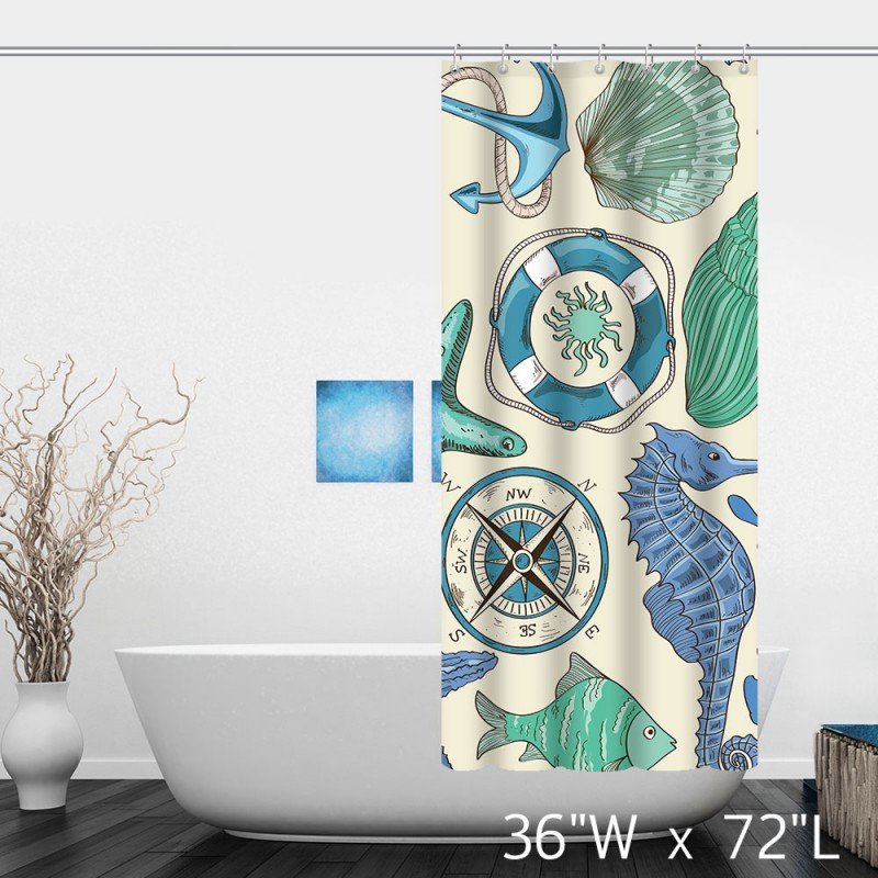nautical themed bathroom polyester shower curtain nautical themed bathroom nautical themed