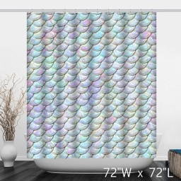 Shiny Bling Scales Films Print Bathroom Shower Curtain
