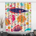 The underwater world Colorful Tropical Fish Shower Curtain