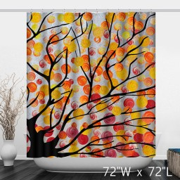 Artistic Tree Sweet Candy Watercolor Shower Curtain
