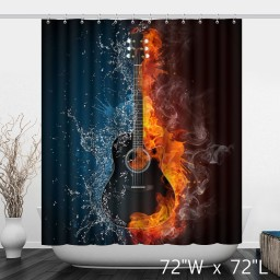 Music Themes Stave Note Art Shower Curtain