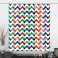 Colorful Abstract Background with Zigzag Lines Shower Curtain