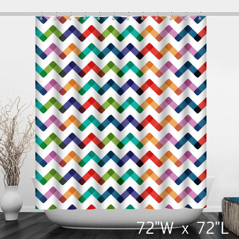 Colorful Abstract Background With Zigzag Lines Shower