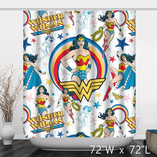 All Star Comics Wonder Woman Diana Prince Shower Curtain