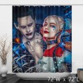 Harley Quinn And Joker Suicide Squad Printed Shower Curtain