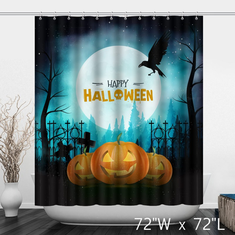 Vintage Background For Happy Halloween Shower Curtain