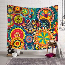 Colorful Floral Print Wall Tapestry Home Decor
