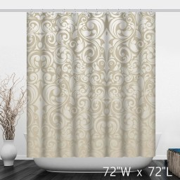 Abstract Graphic Symbol Stripes Texture Shower Curtain Modern Style Pattern Durable Washable