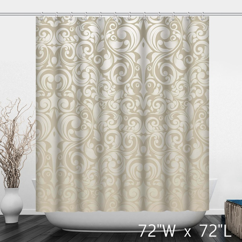 Abstract Graphic Symbol Stripes Texture Shower Curtain Modern Style ...