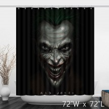 Funny Zombie Grimace Mad Joke Shower Curtain - Black