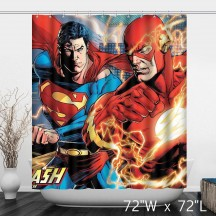 DC Comics Superman And The Flash Rebirth Shower Curtain