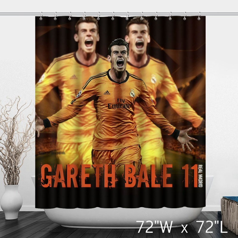 Careth Bale 11 Real Madrid Football Shower Curtain