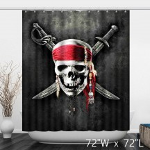 3D Pirates of the Caribbean Skull Shower Curtain