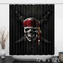 Pirates of the Caribbean Skull Print Shower Curtain