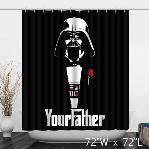Darth Vader Star Wars Your Father Bathroom Shower Curtain