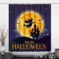 Halloween Trick or Treat Witch Bathroom Shower Curtain