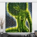 Artistic Naked Women Green Trees Bathroom Shower Curtain