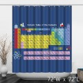 Periodic Table of the Elements Bathroom Shower Curtain