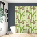 Cartoon Sloth Design Bathroom Waterproof Fabric Shower Curtain