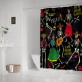 Day of the Dead Patry Polyester Fabric Shower Curtain