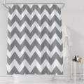 Gray And White Chevron Bathroom Waterproof Polyester Shower Curtain