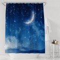 The Beautiful Night Moon And Stars Home Decor Shower Curtains